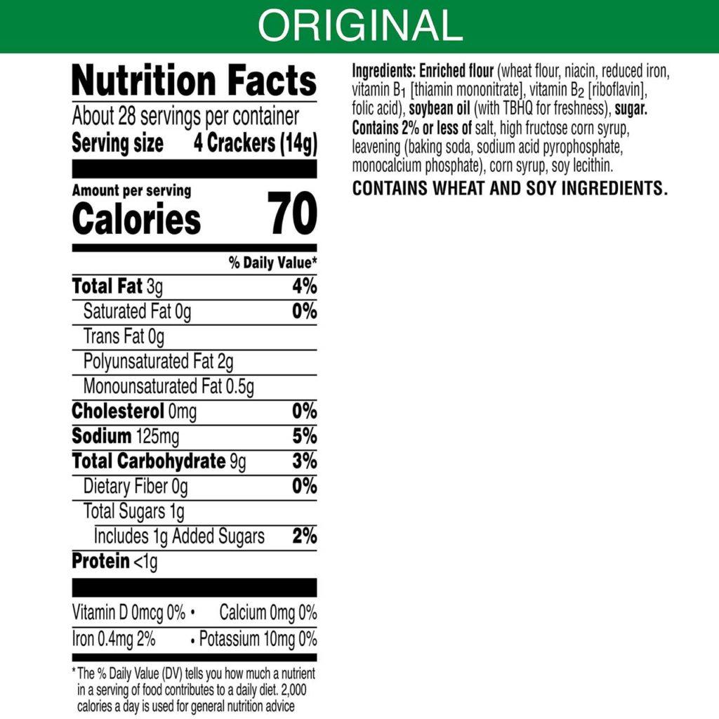 Golden Grahams Nutrition Facts